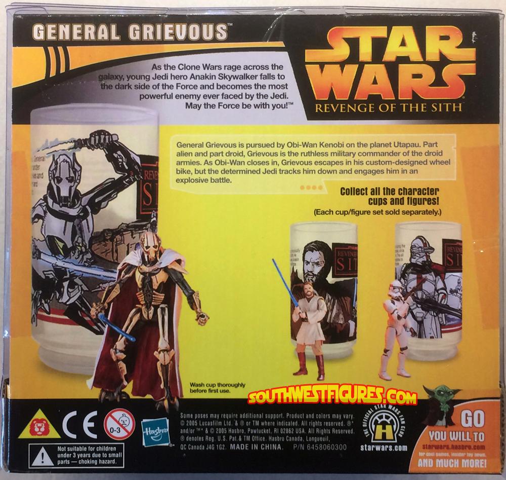 Star Wars Revenge Of The Sith Obi-Wan Kenobi Action Figure /& Cup Set 2005 Hasbro